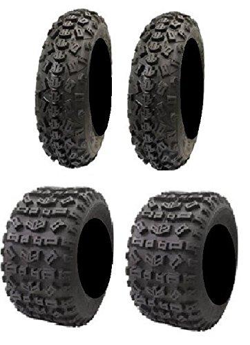 Full set of STI Tech 4 XC 21x7-10 and 20x11-9 ATV Tires (4)