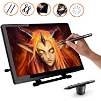 Ugee UG-2150 21.5 Inches LED Graphics Tablet IPS Pen Display HD Resolution Drawing Monitor Dual Monitor with Adjustable Stand, 2 Chargeable Pens, 1 Drawing Glove, 1 Screen Protector