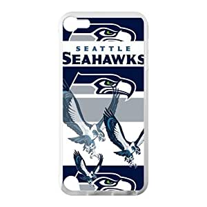 Coolest Grey Seattle Seahawks Ipod Touch 5 Cell Phone Cases Cover(Laster Technology)