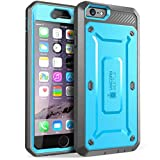 iPhone 6s Plus Case, SUPCASE Belt Clip Holster Apple iPhone 6 Plus Case 5.5 Inch [Unicorn Beetle Pro] w/ Built-in Screen Protector (Blue/Gray)