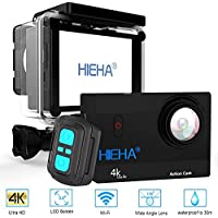 Hieha Action Cam 20MP 4K 1080P HD WiFi 98ft Underwater Sports SJCAM SJ5000 DV Camcorder 170 Degree Wide Lens Angle with SONY Sensor