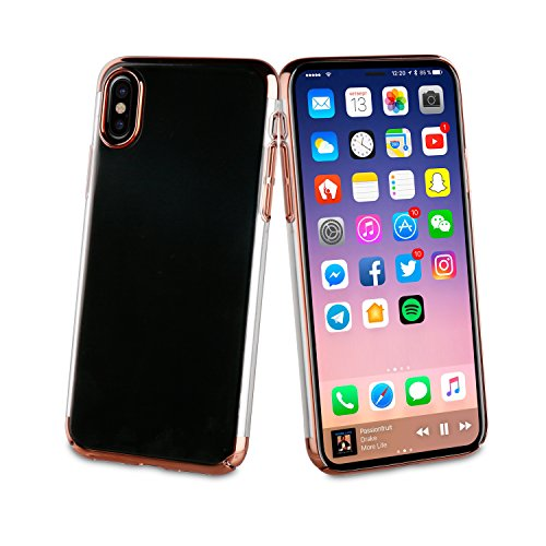 Muvit mucry0171Coque Crystal electroplating «édition spéciale, pour Apple et iPhone x, couleur ROSE GOLD
