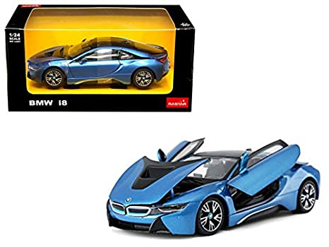 Amazon Com Bmw I8 Blue 1 24 Diecast Model Car By Rastar 56500bl