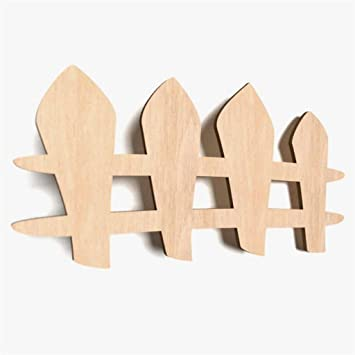WoMa Kreativ Shop / Deutschlandweit Einziger Anbieter Diesen Hersteller 10x  Zaun Holz Basteln Bemalen Hängedeko Kinderzimmer