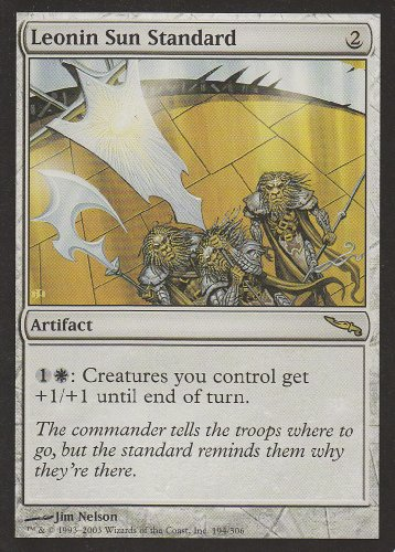 Leonin Sun Standard (Magic the Gathering : Mirrodin #194 Rare)