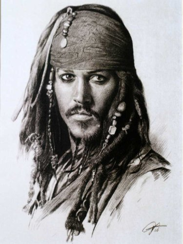 Drawing Johnny Depp Art