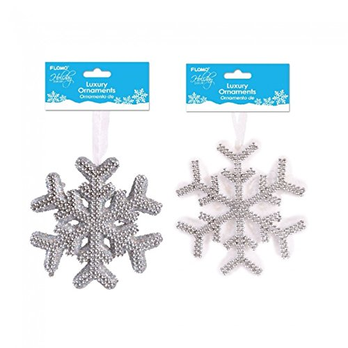Holiday Essentials Medium Foam Snowflake Decorations by