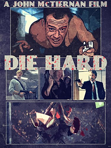 Die Hard 1988 Retro Art Movie Painting Lighter John McClane Characters Bruce Willis 24x18 Poster Print (Bruce Willis Poster)