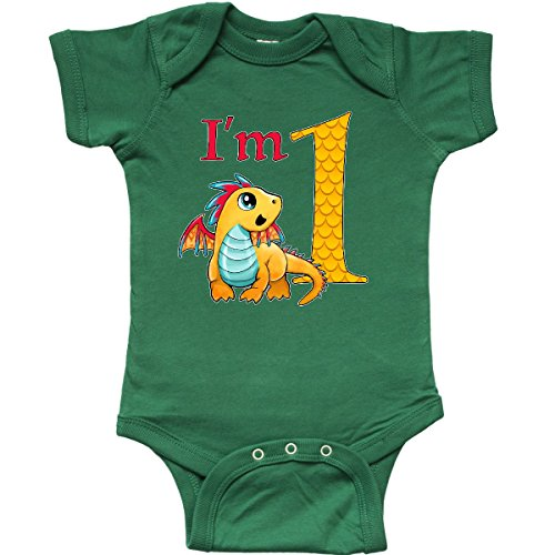 Dragon Infant Creeper (inktastic Gold and Red Baby Dragon First Infant Creeper 18 Months Kelly Green)