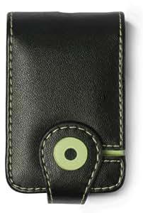 Funda de cuero QDOS Zen V Negro y Carcasa elegante verde para Zen V & Zen V Plus