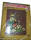 Vintage 1979 Sunset Stitchery Meadow Monarch Designed by Andree Palmateer - A Beginning Stitchery Kit