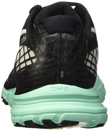 Brooks Launch 3 W, Zapatillas de Running para Mujer Black/White/Ice Green
