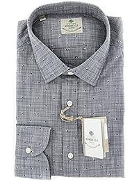 New Luigi Borrelli Gray Fancy Extra Slim Shirt