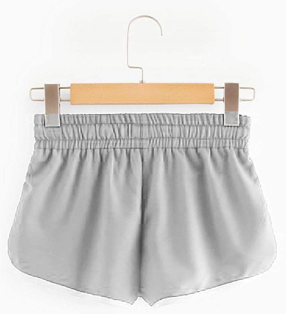 ZEFOTIM ✿ Loose Shorts for Womens Casual Beach Striped Mid Waist Belt Student Shorts Pants