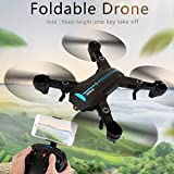 Inverlee Mini A6 Foldable With Wifi FPV 720P HD Camera 2.4G 6-Axis RC Quadcopter Drone Toys (Black)