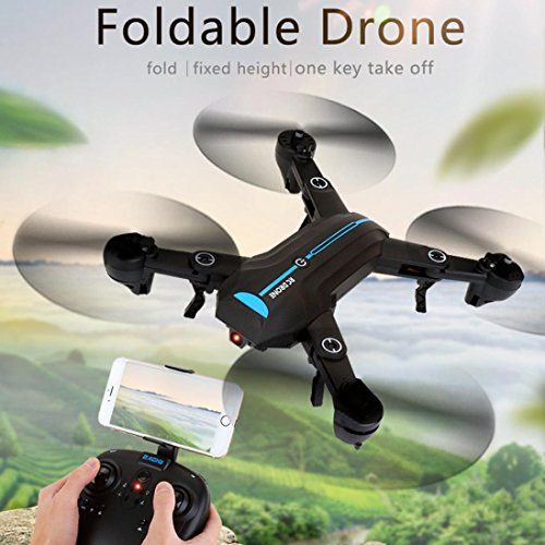 Inverlee Mini A6 Foldable With Wifi FPV 720P HD Camera 2.4G 6-Axis RC Quadcopter Drone Toys (Black) by Inverlee