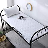 GJFLife Thickened Feather Velvet Mattress Topper Futon, Collapsible Dormitory Tatami Mattress Protector Soft Bed mats Sleeping pad-E 150x190x5cm