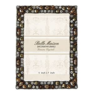 Amazon Com Belle Maison 5x7 Picture Frame Jeweled Gold