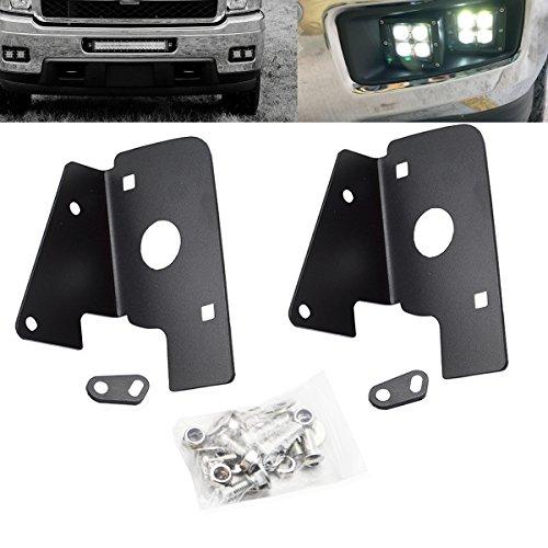 DaSen Lower Hidden Bumper Fog Lamp LED Light Bar Mounting Bracket Kit For 2007-2014 Chevrolet Silverado 1500 2500 -