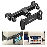 Nulaxy Headrest Tablet Mount, Upgraded Tight Screw Lock Car Headrest Holder Mount Compatible with iPad Pro Air Mini, Samsung Galaxy Tabs, Google Nexus, Other 4.7-11' Cellphones and Tablets - Black
