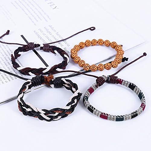 SUM Mens Leather Wide Belt Wristband Bangle Cuff Bracelets Black,,white