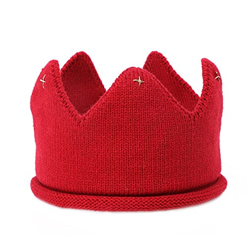 lays-children-crown-hat-knit-cap-for-toddlers-photography-birthday-party-holiday-props-red