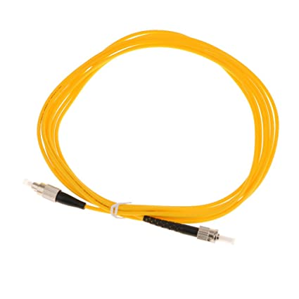 amazon com: jili online 10ft fc-st single core fiber optic patch cable  jumper for home/engineering wiring/corporate network cabling: computers &  accessories