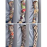 Arts Fake Temporary Tattoo Arm Sunscreen Sleeves - iMakcc - Long Sun Sleeves Cover Perfect for Cycling, Driving, Running, Outdoor Sports (B)