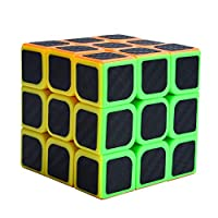 Binory 1x3 2x2 3x3 Speed Cube Magic Cube with Carbon Fiber Sticker, Fluctuation Angle Fidget Cubes Educational Brain Teasers Stress Relief Puzzle Toys Gift for Kids Beginner Professional(3x3 Cube)
