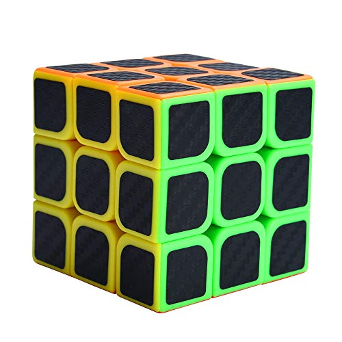Binory 3x3 Magic Cube for Smooth Magic Rubik Cube Puzzle Toys Brain Teaser Puzzles with Carbon Fiber