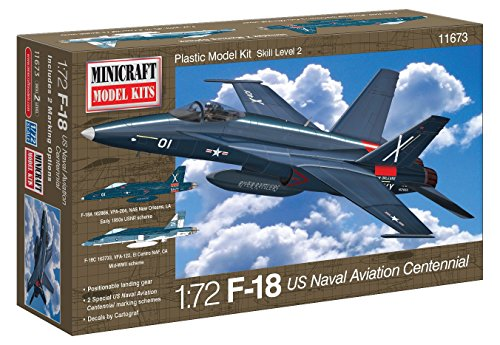 Minicraft F-18 Centennial USN Aviation with 2 Marking Options Model Kit, 1/72 Scale