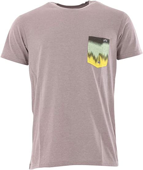 BILLABONG Camiseta Team Pocket UV Surf tee Top - Grey Heather - Relájate y reconsidera tu Protection Solar Essential: Amazon.es: Deportes y aire libre