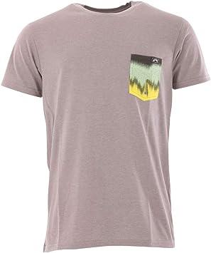 BILLABONG Camiseta Team Pocket UV Surf tee Top - Grey Heather - Relájate y reconsidera tu Protection Solar Essential