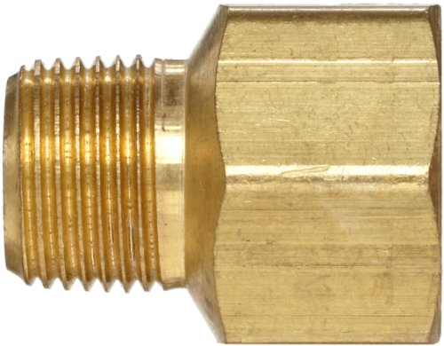Anderson Metals Brass Pipe Fitting Adapter 3 8 Male Pipe x 1 2 Female Pipe