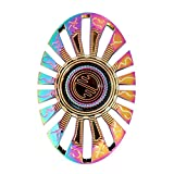 Hand Spinner,LuckyOne S8 Butterfly Fish Metal EDC High Speed Fidget Toy,Stress Reducer Relieve Anxiety and Boredom Rainbow