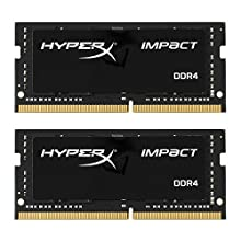 HyperX HX424S14IBK2/32 Impact DDR4 - Kit de Memoria RAM 2400MHz CL14 SODIMM 32GB (2x16GB)