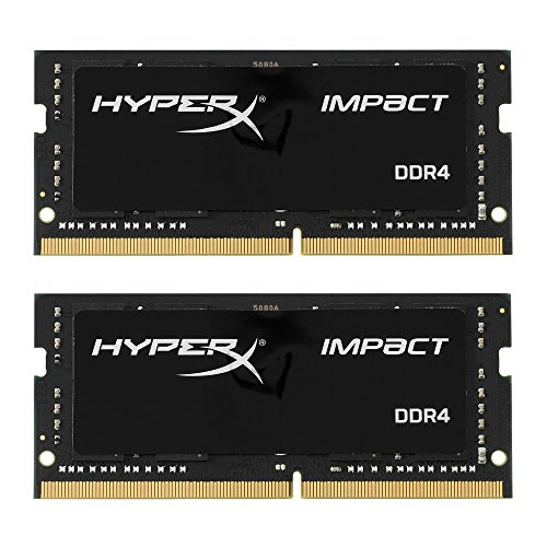 Kingston Technology HyperX Impact 32GB Kit (2x16GB) 2400MHz DDR4 CL14 260-Pin SODIMM Laptop HX424S14IBK2/32 by HyperX