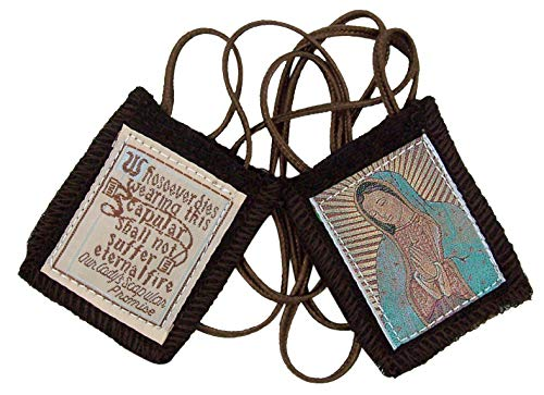 Needzo Genuine Wool Brown Our Lady Scapular ()