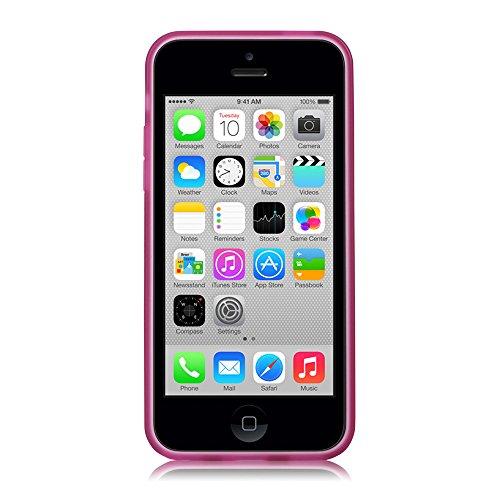 GGMM Pure Plus-5C ipc00905 transparent Schutzhülle mit Displayschutzfolie für Apple iPhone 5C lila