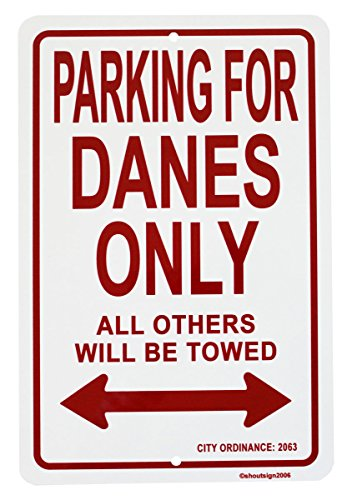 "Denmark - 8"" x 12"" Parking Sign"