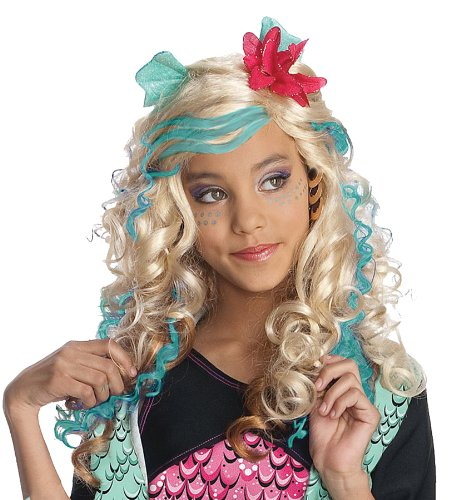 Monster High Costumes Adult (Monster High Child's Lagoona Blue Costume Wig)
