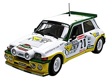 Solido 1:18 Scale Renault 5 Turbo Rally Car (White) by solido