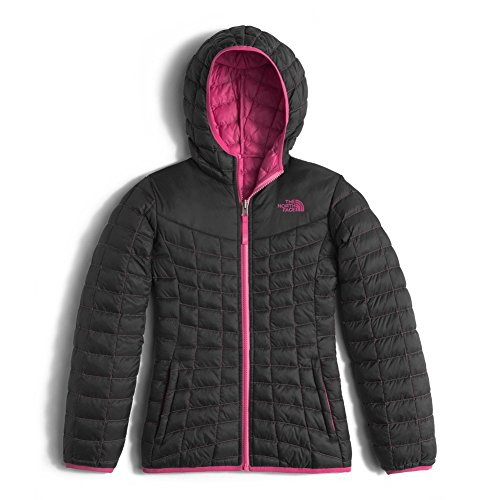 The North Face GIRLS REVERSIBLE THERMOBALL HOODIE color: TNF BLACK size: L by The North Face