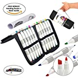 Professional Art Markers Set – 24 Alcohol Based Double-Ended Blendable Markers – Fine Tip and Chisel Tip Perfect for Artists, Beginners, Adults, and Children – Marker Set & Carrying Case by Colorona