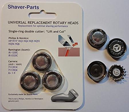 Cabezales de afeitado alternativos que se adaptan a la afeitadora Philips: compatible con HQ4, HQ5, HQ55 y HQ56 Lift & Cut.