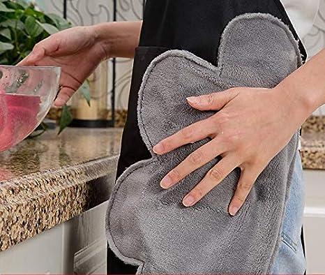 Ristorante Lavoro Barbecue Giardinaggio Artigianale Cottura Nero Devlope Grembiule da Cucina Regolabile Nero Grembiule da Chef Impermeabile con Tasche 【Pulire Entrambi I Lati】