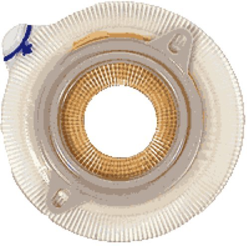 Stoma Medium Coupling (Coloplast Assura AC Easiflex Two-Piece Pre-Cut Convex Light Standard Wear Skin Barrier with Flange and Belt Tabs 1-1/8