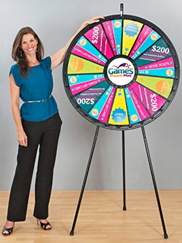 Games People Play 63038 15 to 30 Slot Floor Stand Big Adaptable Prize Wheel Game 40 in. Diameter by marketing holders