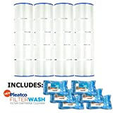Pleatco Cartridge Filter PCC105-PAK4 Pack of 4 Pentair Clean & Clear Plus 420 Waterway CW425 C-7471 w/ 6x Filter Washes