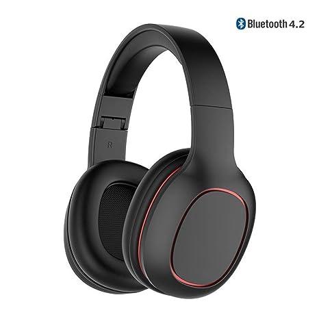 DUHOULI Auriculares Bluetooth Plegables Bajos Profundos del Auricular Bluetooth De Los Auriculares Inalámbricos para El Teléfono